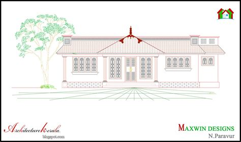 3 bhk single floor house plan architecture kerala 3 bhk single floor kerala house plan