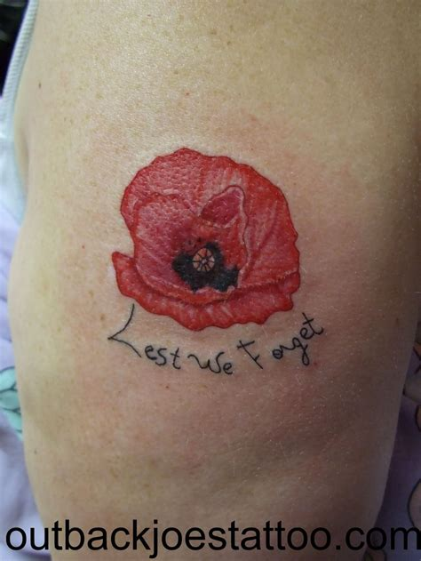 lest we forget tattoo designs 11 poppy half sleeve tattoos