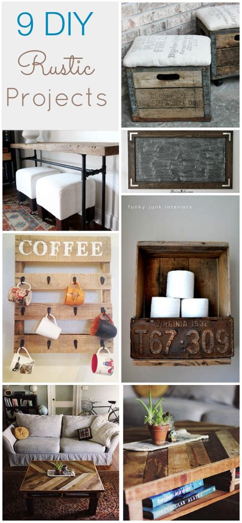 diy projects rustic 9 rustic diy ideas hawthorne and