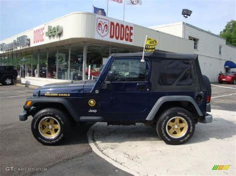 midnight blue jeep 2006 midnight blue pearl jeep wrangler sport 4x4 golden