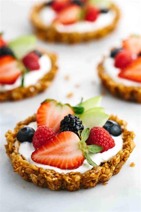 fruit tart breakfast granola fruit tart with yogurt recipe