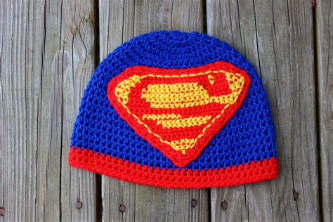 superman logo crochet pattern superman beanies beanie ville
