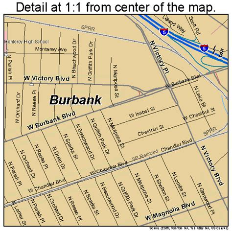 california map burbank burbank california map 0608954