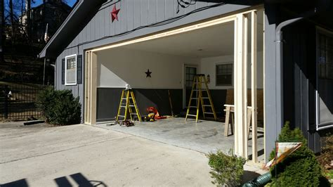 Convert Carport Into Garage by Carport Garage Conversion Overhead Door Company