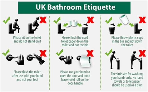 bathroom etiquette sign