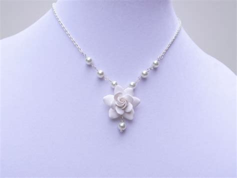 Gardenia Necklace White Gardenia Necklace White Flower Necklace White