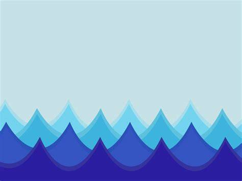 Waves in an Ocean Powerpoint Templates   Abstract, Blue