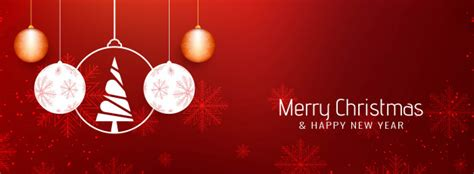 abstract beautiful merry christmas banner template vector