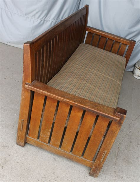 don t settle for the rocking chair bargain john s antiques 187 blog archive mission oak settle