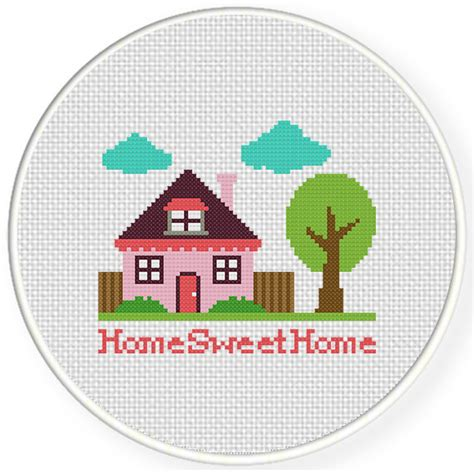 home patterns home sweet home cross stitch pattern daily cross stitch