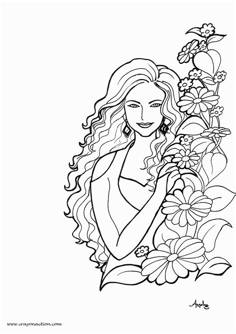 Pretty Girl Coloring Page Coloring Home Coloring Pages Of Pretty Free