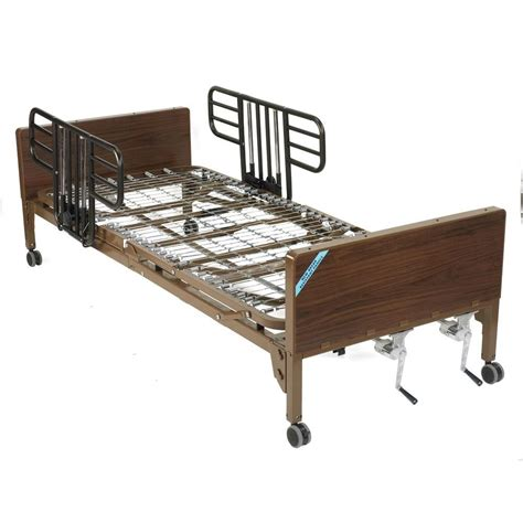 drive hospital bed drive multi height manual hospital bed with half rails