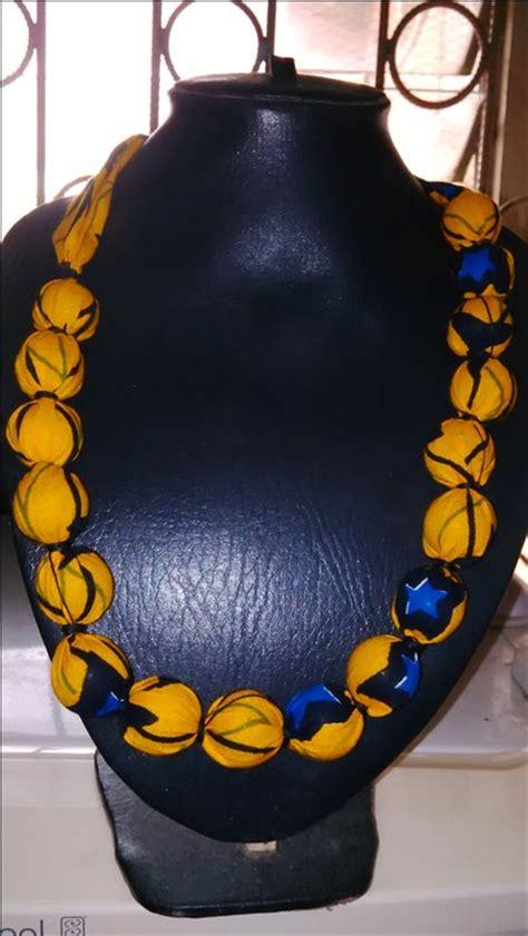 how to make ankara jewelry how to make ankara beaded necklace fashion nigeria