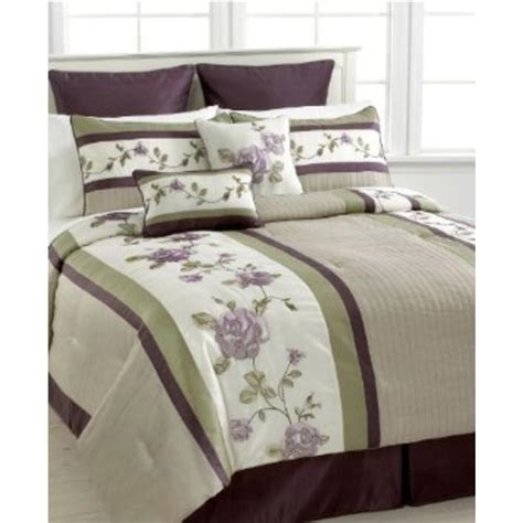 extreme linen new rosemont ivory embroidered 8pc comforter