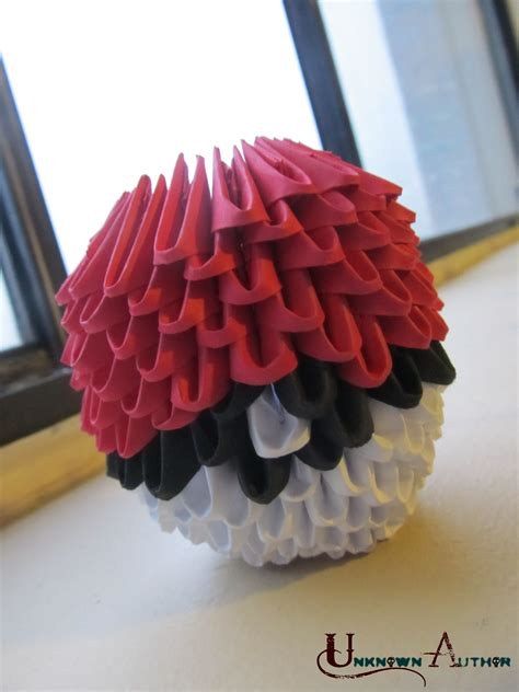 3d origami pokeball by jobe3do on deviantart