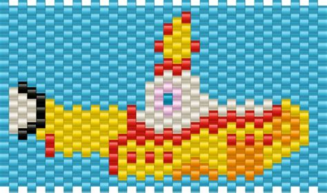 strumming pattern for yellow submarine yellow submarine pony bead patterns misc kandi patterns