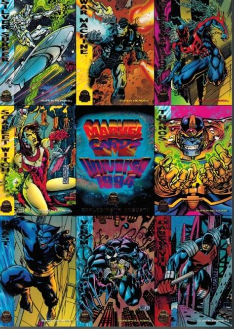 Gift Card Coupons Online - marvel universe 1994 cards promo uncut sheet super heroes cards stickers