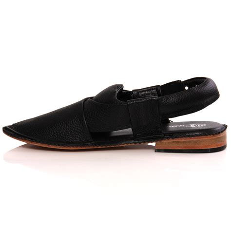 Handmade Leather Shoes Uk - unze mens sandler handmade leather flat peshawari sandals