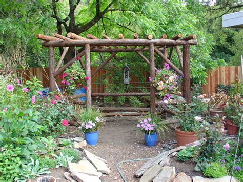 Rustic Garden Gazebo from Redwood Posts photo Karen