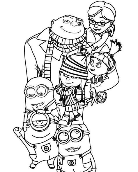 descendants coloring pages pdf despicable me 2 family coloring page kaylin az