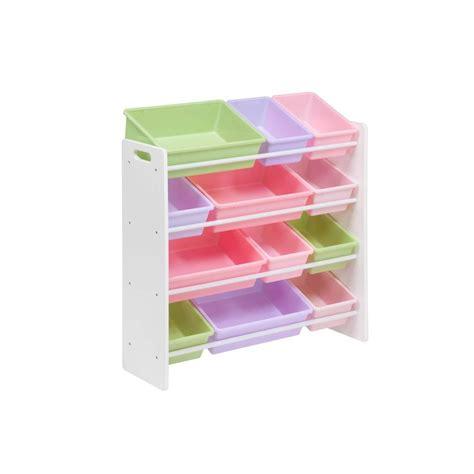 organization bins honey can do kids storage organizer with 12 bins in white