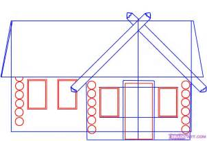 house to draw how to draw a log cabin house step by step buildings