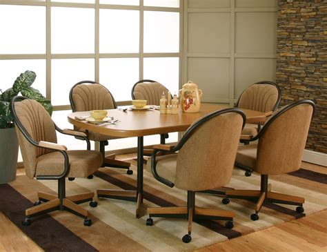 dining room chair casters awesome dining room chairs with casters light of dining room