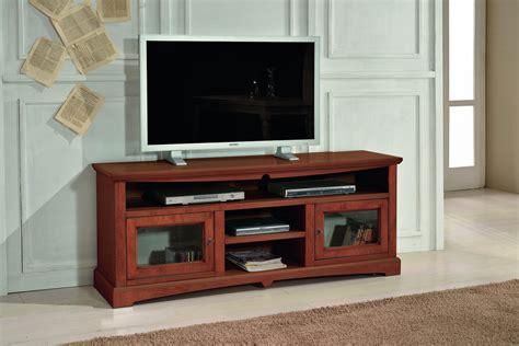porta tv in legno massello porta tv in legno massello noce arte povera cm 170x69
