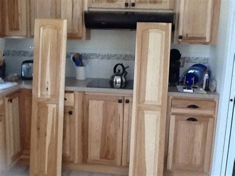 prefinished kitchen cabinets hickory doors