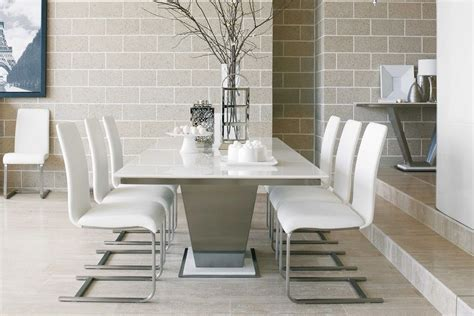 white marble top dining table : White Marble Dining Table