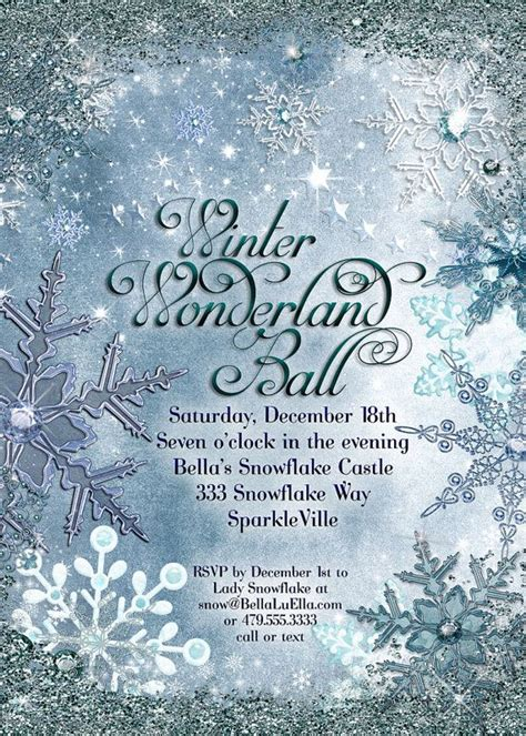 winter wonderland invitations templates best 20 snowflake