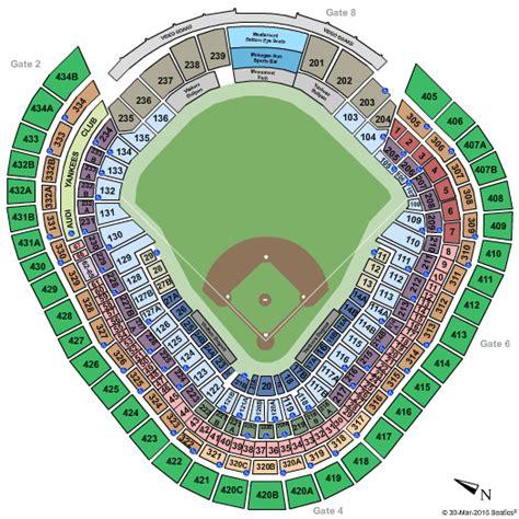 yankee stadium seating chart view section yankee stadium bronx ny seating chart stage new