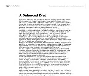 Our Food Essay by A Balanced Diet Gcse Design Technology Marked By Teachers