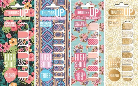 Co Launches A New Collection by Thumbsup Launches New Nail Wrap Collection Fashion Insight