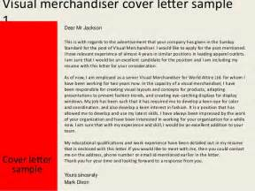 Garment Merchandiser Cover Letter by Visual Merchandiser Cover Letter