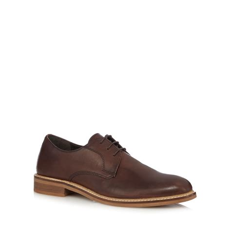 debenhams mens boots herring mens chocolate leather derby shoes from