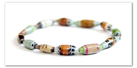 How To Make A Paper Bead Bracelet - how to make paper charms guide