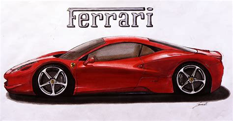 ferrari 458 sketch ferrari 458 sketch on behance