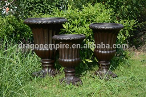 Faux Planters Urns by Faux Look Fiber Clay Decorative Garden Urns Planters
