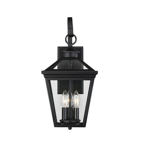 black exterior wall lights ellijay black three light nine inch outdoor wall sconce