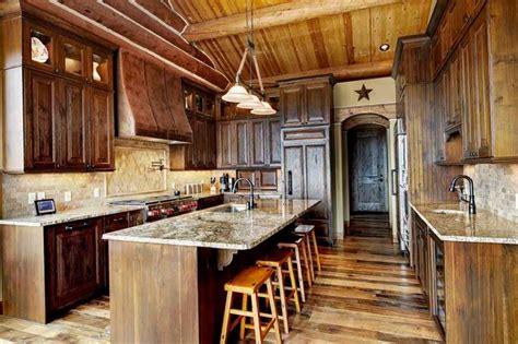 conifer co log home remodel kitchen rustic denver