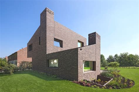 modern brick homes contemporary brick house in groenekan netherlands 171 adelto adelto