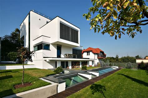 cubic house design cubic shapes and modern comfort near cracow poland xv house freshome com