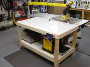 Sawstop Table Saw by Outfeed Assembly Downdraft Table