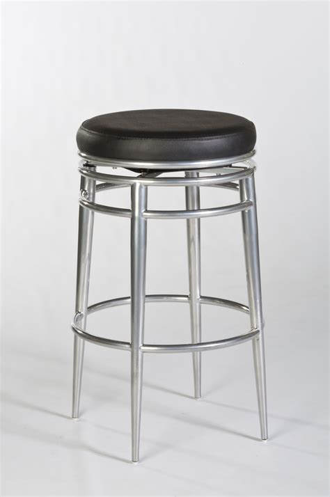 bar stools chrome hillsdale hyde park backless swivel bar stool chrome