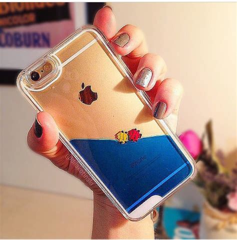 Iphone 6 Plus Luxury Coco Channel Water Glitter Bottle Soft Cover liquid fish iphone 5 5s 6 blue pink yellow
