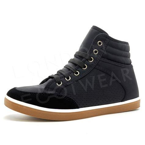 mens designer sneakers mens designer hi high tops ankle trainers boots flat