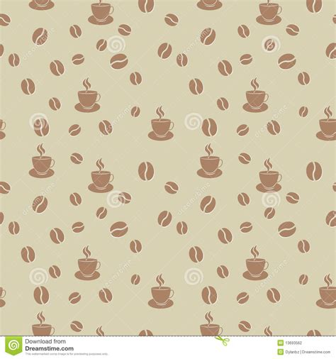 seamless pattern coffee coffee seamless pattern stock photography image 13693562