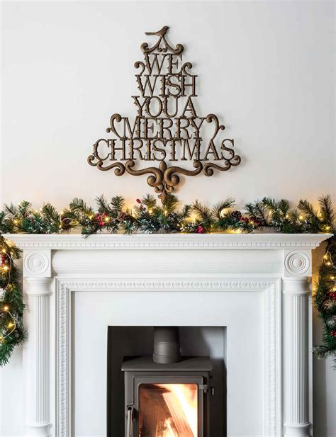Fireplace Garlands by Mantelpiece Light Ideas Light Ideas
