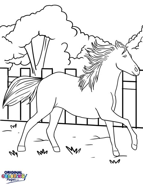 coloring page galloping horse horses coloring pages original coloring pages